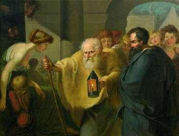 Diogene di Sinope alla ricerca dei un uomo autentico